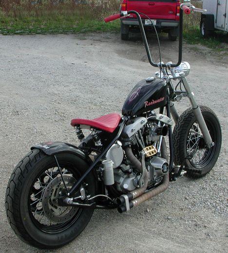 custom harley | Image of 1972 Shovelhead Harley Bobber Motorcycle with hardtailed ...
