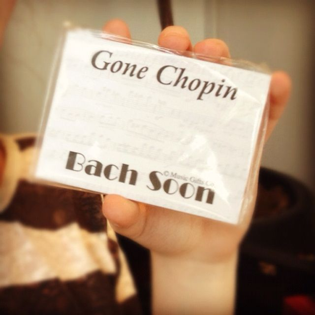"""Gone Chopin; Bach soon."" Gotta love clever classical music references. - this is awesome ah"