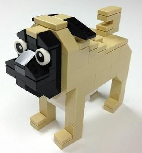 Lego Pug Dog Parts & Instructions Lego Club Mini Model Build - Constructibles