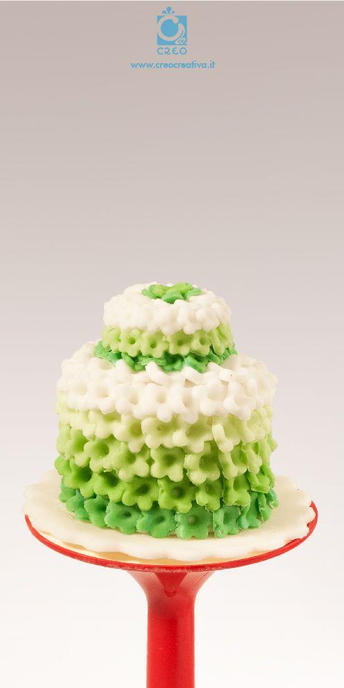 Minicake di #fiori verdi #minicake #wedding #handmade #creocreativa