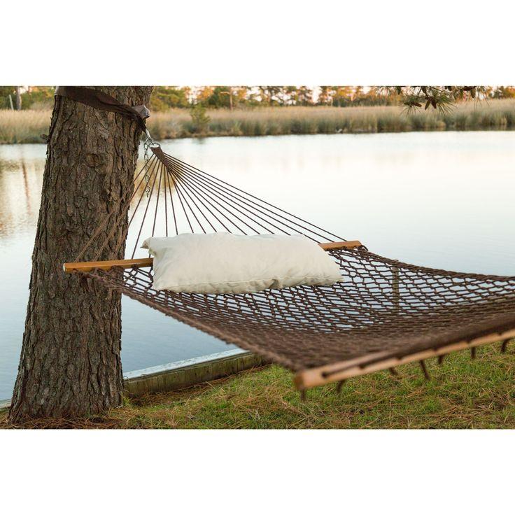 castaway antique brown polyester rope hammock with pillow by pawleys island hammocks - Pawleys Island Hammock