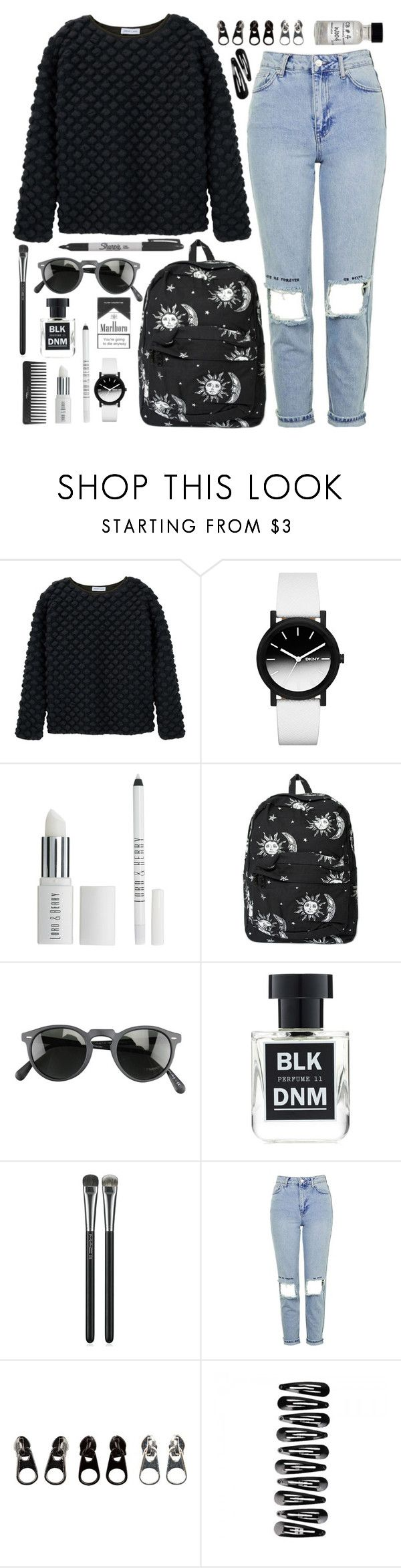 """Outfit 79"" by holass ❤ liked on Polyvore featuring Jeremy Laing, DKNY, Lord & Berry, Motel, Sharpie, Oliver Peoples, BLK DNM, MAC Cosmetics, Topshop and Full Tilt"