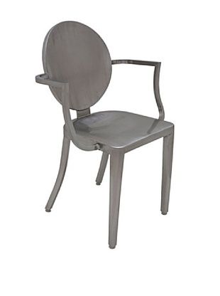44% OFF Industrial Chic Louis Chair, Silver