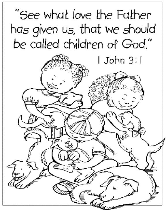 the our father coloring pages - photo#27