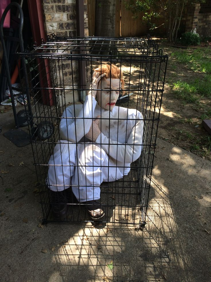 creepy guy in a cage