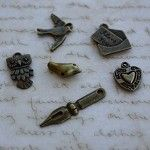 50 x Mixed Charms Antique Bronze Style - by CreativeBirdSupplies on Craftumi