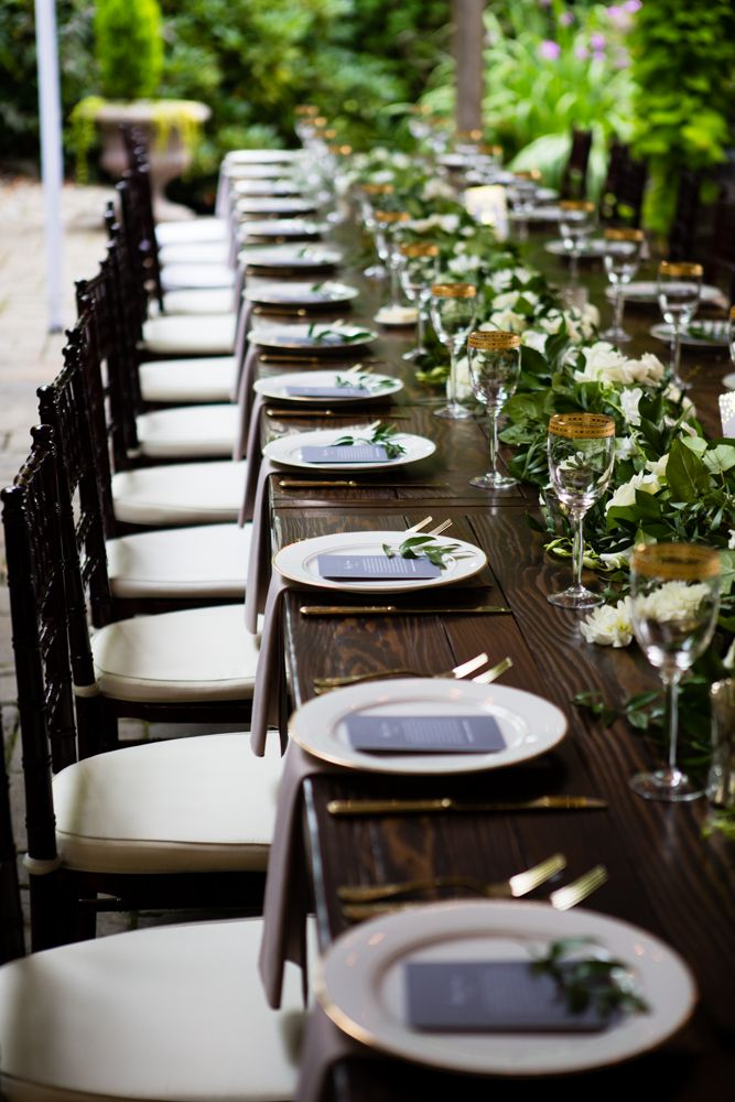 Barnwood Table Rentals By Seattle Farm Tables Photo By La Vie Photography Venue Delille Cellars In Woodinville Wa Classic Greenery Wit Long Wood Table Wood Table Outdoor Wedding Tables