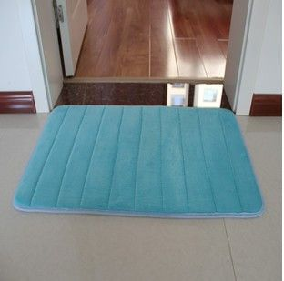 Extra Large Memory Foam Anti Skid Bath Mat,Super Soft Bathroom RugsCoral  Velvet Non