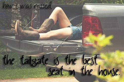 Love sittin on the tale gate with my brother Joey!   country # tailgates # country girls # cowgirl boots
