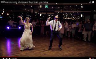 VIDEO. Etats-Unis: Un père et sa fille enflamment un mariage par une danse endiablée