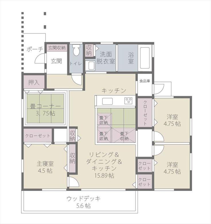 平屋の家 間取りプランNo.029|くまもと平屋間取りナビ
