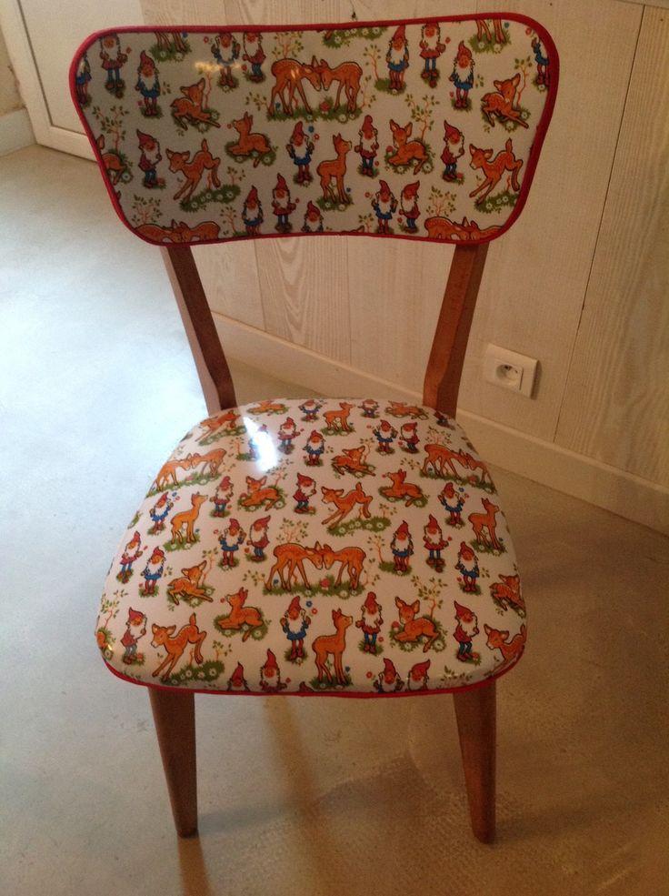 Chaise vintage relookée : Meubles et rangements par l-atelier-d-id