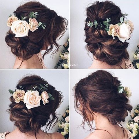 Bridal hairstyle for long hair - #floral headpieces are beautiful for a #springwedding