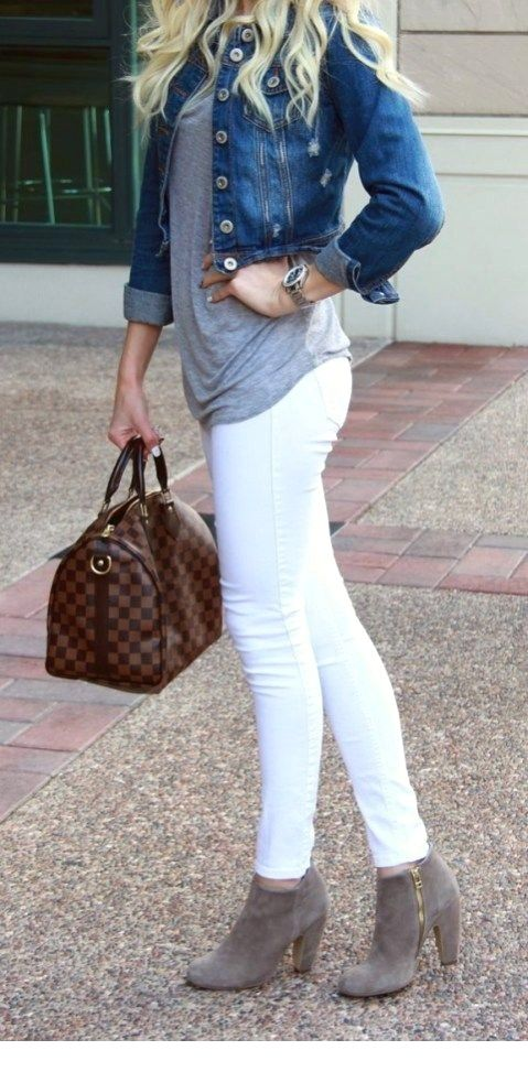 Eye-catching  80 White Jeans Outfit Ideas 1