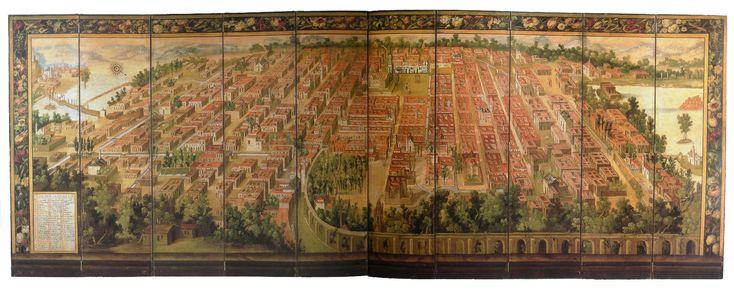 """""""La Muy Noble y Leal Ciudad de México"""" Ciudad de México. Fines del siglo XVII. Museo Franz Mayer, Ciudad de México."""