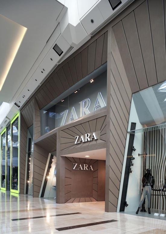 Facade Of The Zara Modern Design Store 04