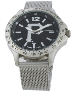 Game Time Pittsburgh Pirates Cage Series Watch - Silver/Black