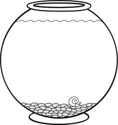 Dessine des petits poissons de toutes les couleurs dans le bocal.  Téléchargez et imprimez le dessin.  #enfant #jeux #dessin