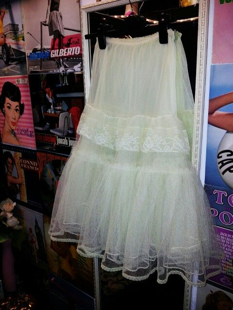 """Original 1950's Net Underskirt by """"Sinclair, A Wildflower Model"""" in a gorgeous yellow shade!"""