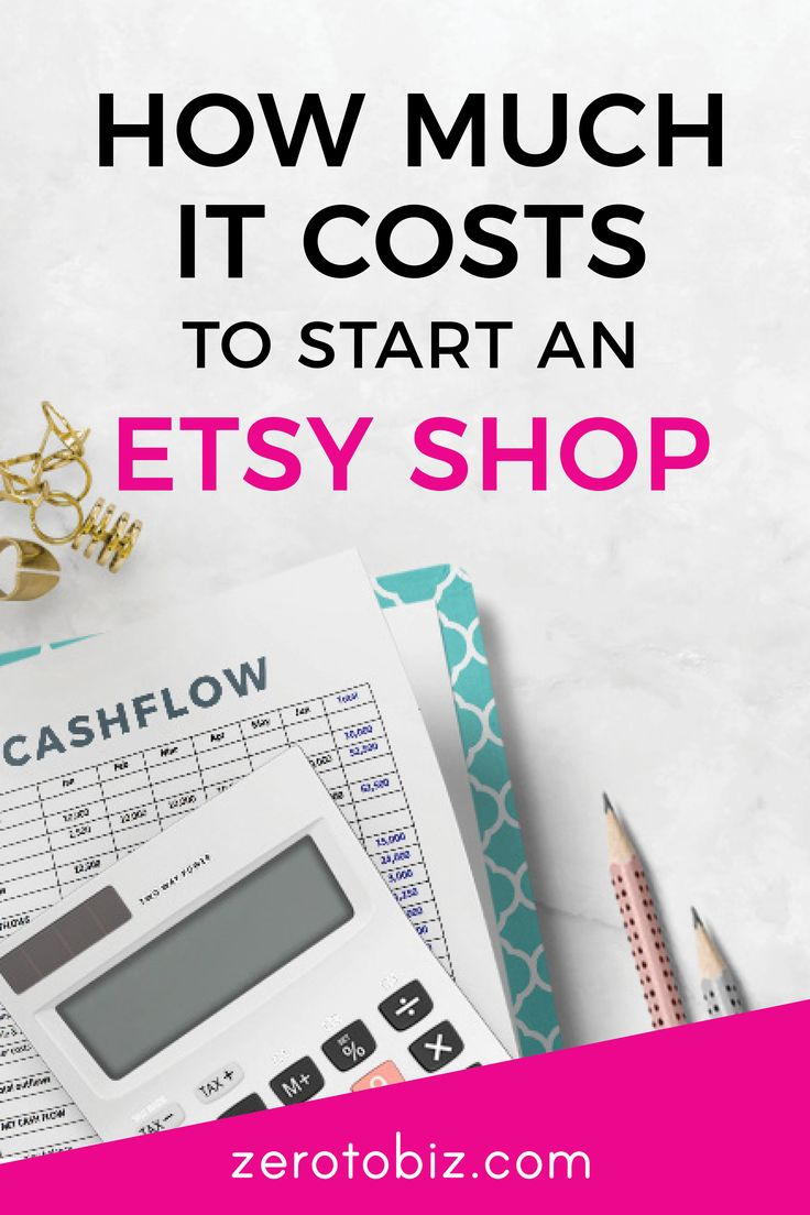 how much does it cost to start an etsy shop