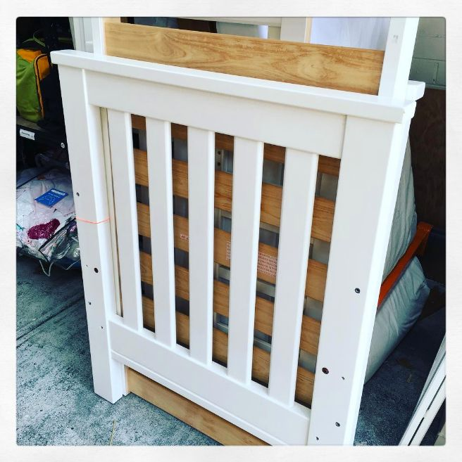 So we are off to a flying start - this is cot number 4 in our count of 500. its a beautiful Boori - Australia Pioneer Cot - in mint condition - ready to be safety checked for its new owners. To learn more about how you can help us find 500 Cots for Tots please visit our website. Thank you! http://www.stkildamums.org/help/cots-for-tots