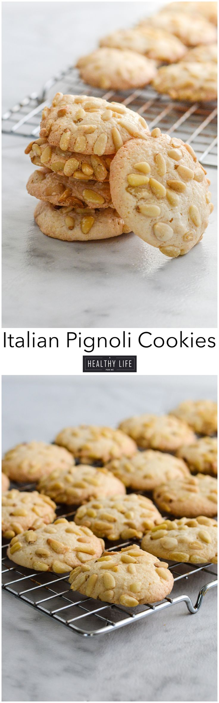 Italian Pignoli Cookie is an italian Sicilian classic cookie recipe that is similar to a macaroon crispy chewy and almondy cookie. Sure to become a family favorite if it isn't already. - A Healthy Life For Me