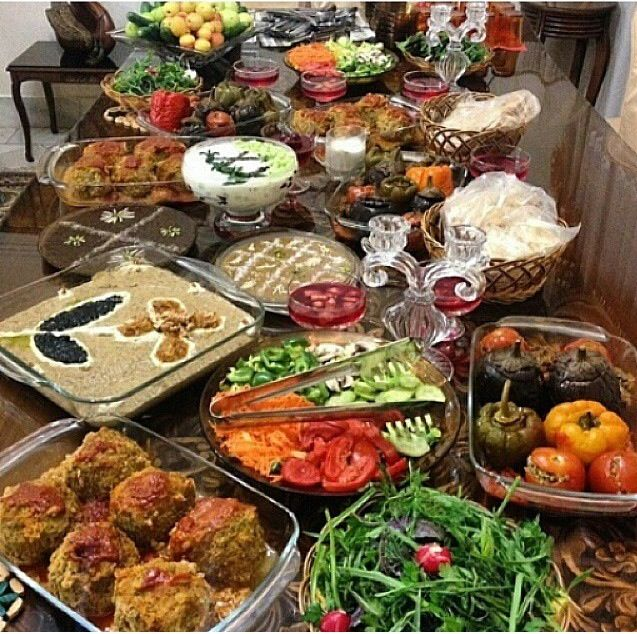 Iranian Feast. Loving the colors!