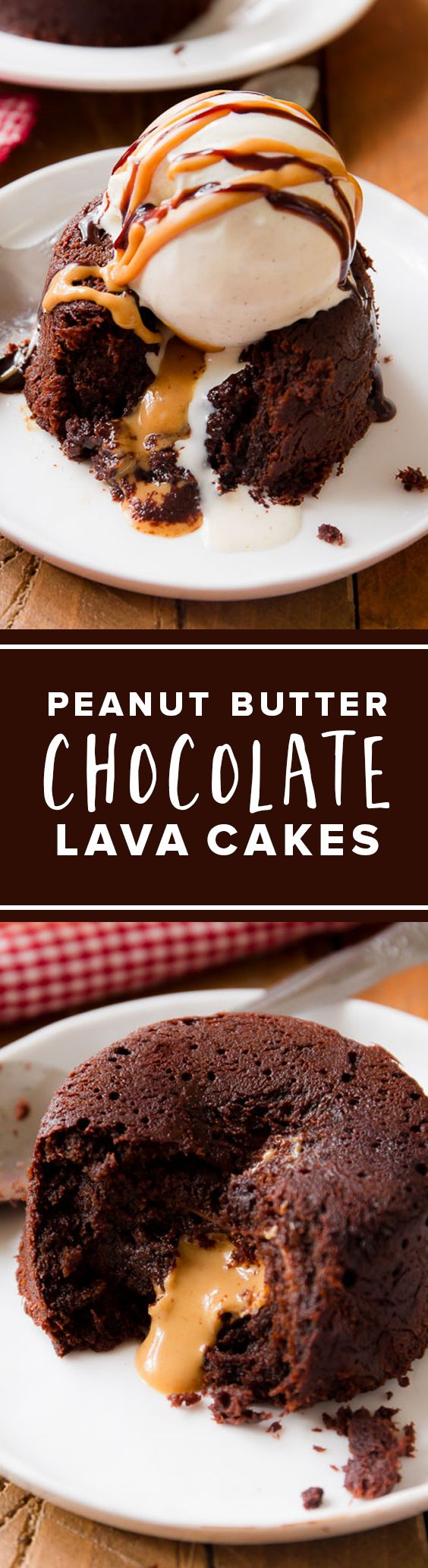 Peanut Butter Chocolate Lava Cakes are EASY. Much easier than you think!