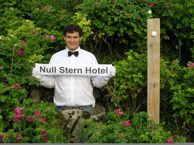 """Null Stern Hotel """"the only star is you"""""""