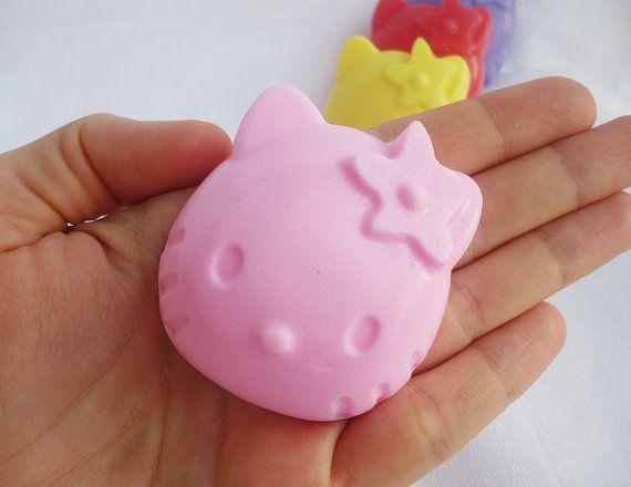 HELLO KITTY SOAPS Baby Shower Soaps Soap by StarSoapsbyIvana
