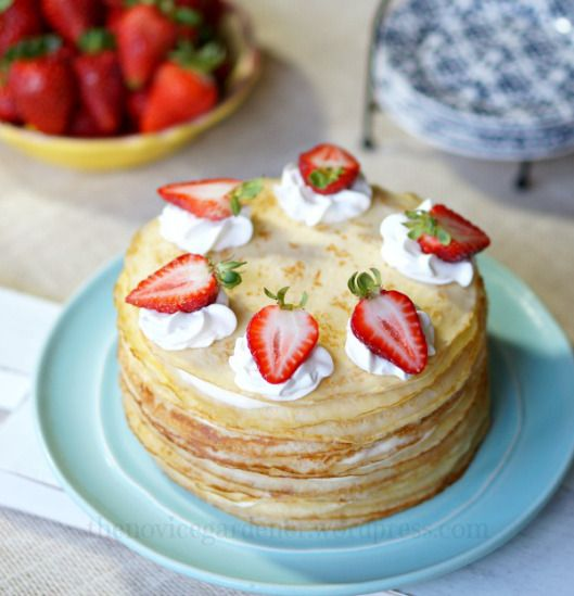 ... on Pinterest | Pastries, Pancake cake and Vanilla custard