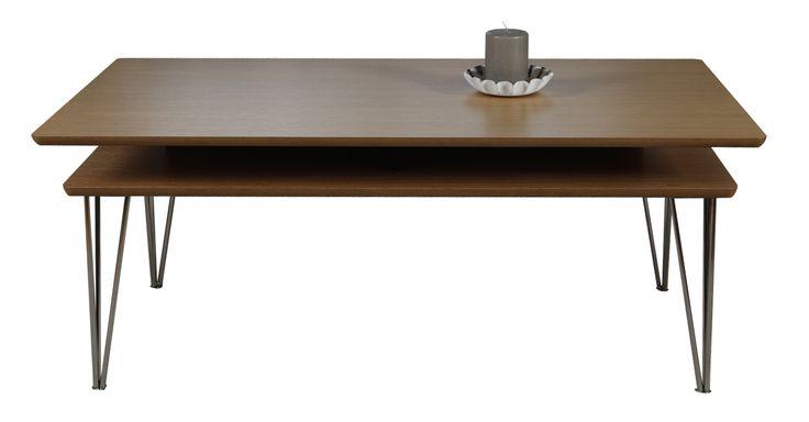 Croma soffbord med hylla - ek från hos ConfidentLiving.se
