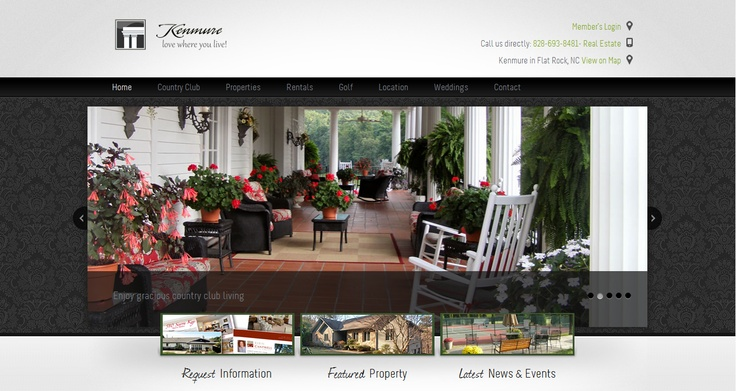 New Web Development work from http://TrulyTwistedMarketing.com! http://kenmure.com - Gated Luxury Country Club Living in Flat Rock, NC