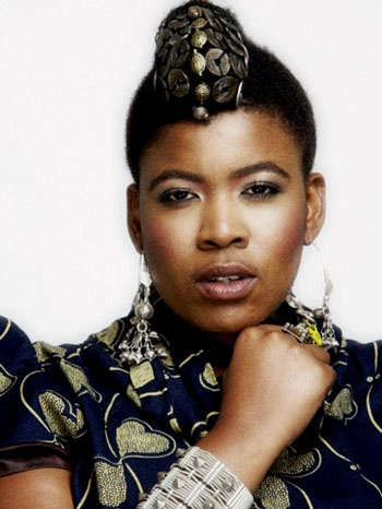 Thandiswa Mazwai, South African musician, & former lead vocalist/ songwriter of Bongo Maffin, a pioneering band of Kwaito (a variant of house music, using African sounds & samples). Her music is often deeply political and her compositions include traditional Xhosa rhythms, Mbaqanga, reggae, kwaito and funk & jazz sounds. She is a recipient of a Kora award for Best African Female, 4 South African Music Awards, & others. If you are not familiar with her music, take a listen to her song Ingoma.