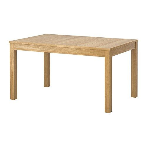 BJURSTA Dining table IKEA Extendable dining table with 2 extra leaves seats 4-8; makes it possible to adjust the table size according to need.
