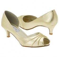 Touch Ups by Benjamin Walk Abby Shoes (Gold W/Pleats) - Women's Wedding  Shoes - W