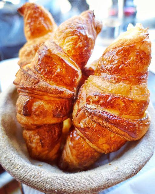 Croissants at Cafe Saint Regis in Paris - a must on your next trip!