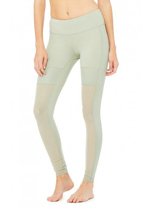 Pin for Later: Rock the Mesh Legging Trend in Yoga, at Spin, and on Your Next Run Alo Yoga Lean Legging Alo Yoga Lean Legging ($98)