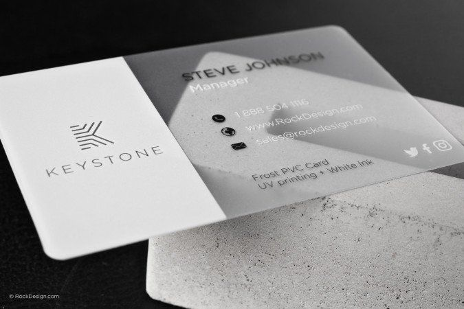 Frost Pvc Business Cards Graphic Design Business Card Business Cards Creative Plastic Business Cards