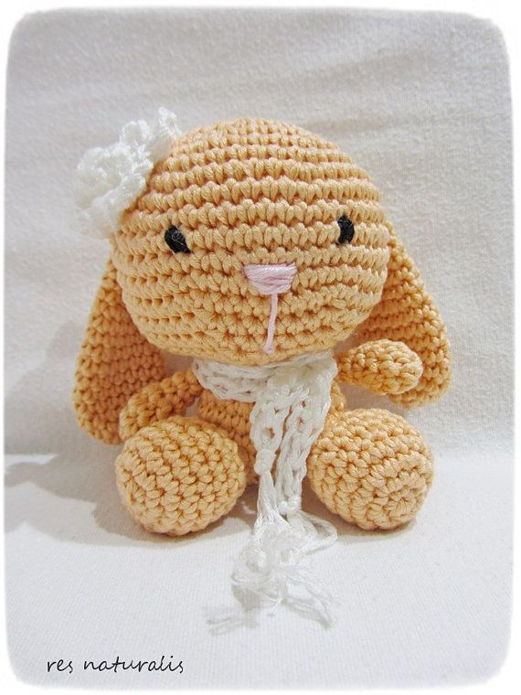 Crochet Baby Girl Cotton Rabbit Toy by ResNaturalis on Etsy  more on my etsy shop: https://www.etsy.com/shop/ResNaturalis?ref=hdr_shop_menu