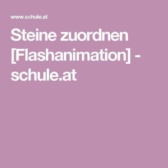 Steine zuordnen [Flashanimation] - schule.at