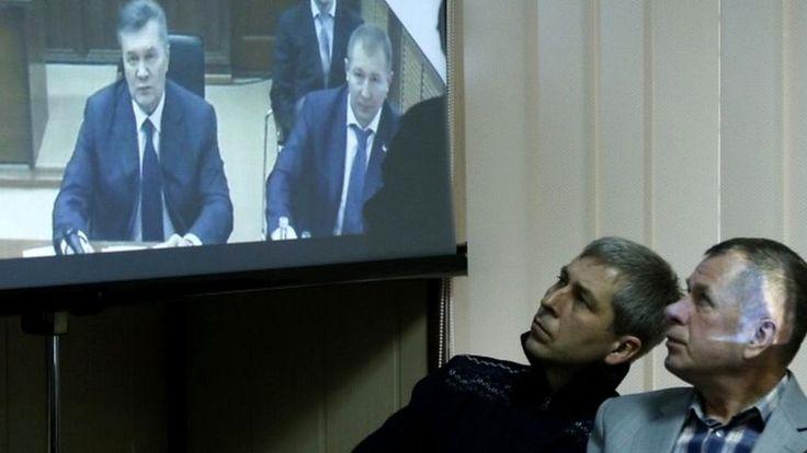 Former Ukraine President Viktor Yanukovych court appearance - http://www.worldnewsfeed.co.uk/news/former-ukraine-president-viktor-yanukovych-court-appearance/