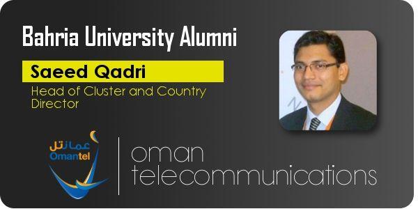 """Pride Of Bahria """"Saeed Qadri""""              Bahria Universiy Alumni Association www.bahria.edu.pk"""