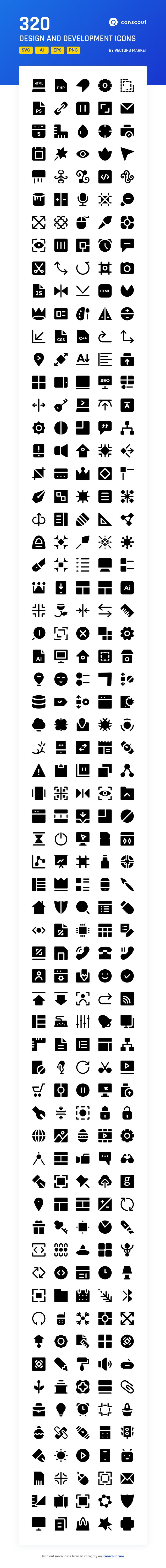 Design And Development  Icon Pack - 320 Solid Icons