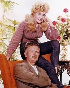Buddy Ebsen and Donna Douglas in The Beverly Hillbillies