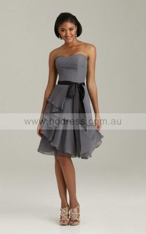 Zipper Knee-length Natural A-line Chiffon Formal Dresses amfa307015--Hodress