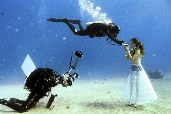 Kuvaussessio sukelluksissa