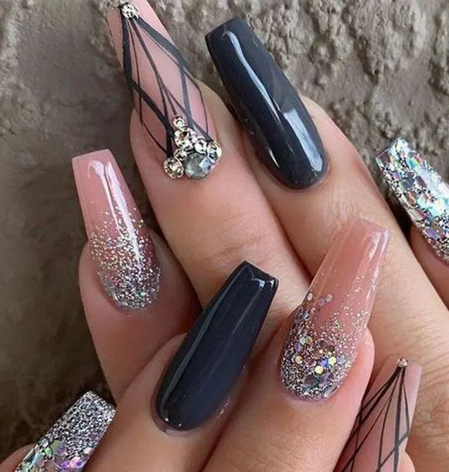 19 Top Awesome Coffin Nails Design You Must Try 19 #awesome #coffin #design #nails