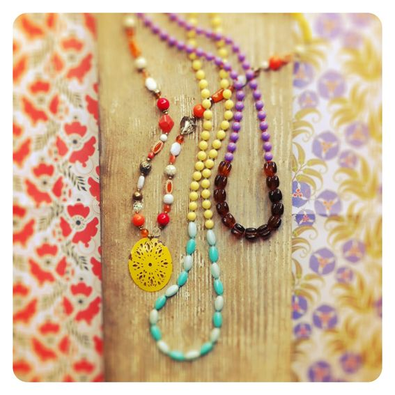 Upcycled necklaces by Pimelia