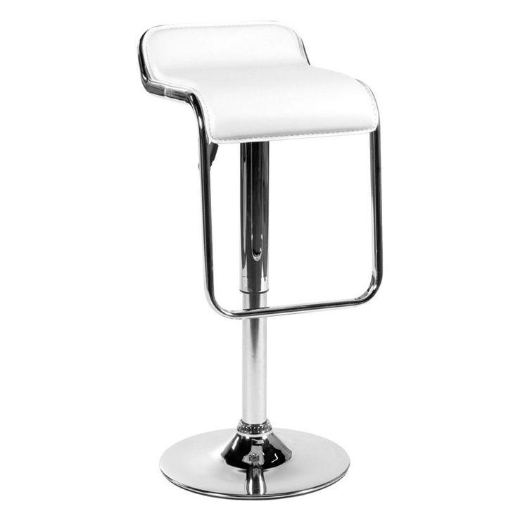 Have to have it. Euro Style Furgus Adjustable Bar Stool White - $116 @hayneedle.com